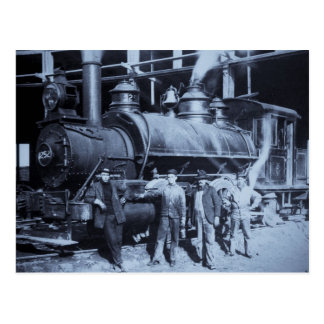 GTW Steam Engine #1252 at the Roudhouse Postcard