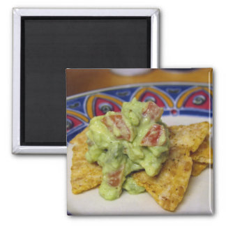 Guac & Chips Square Magnet