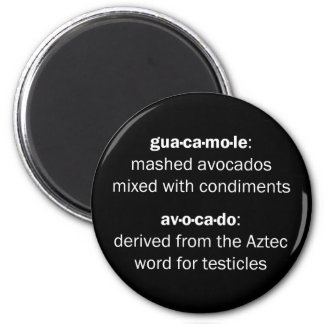 Guacamole Testicles 6 Cm Round Magnet