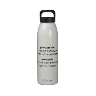Guacamole Testicles Reusable Water Bottles