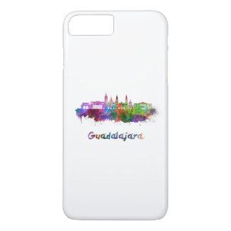 Guadalajara skyline in watercolor iPhone 8 plus/7 plus case