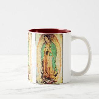 guadalupe, La Vergen de Guadalupe Two-Tone Coffee Mug