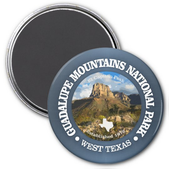 Guadalupe Mountains NP 7.5 Cm Round Magnet
