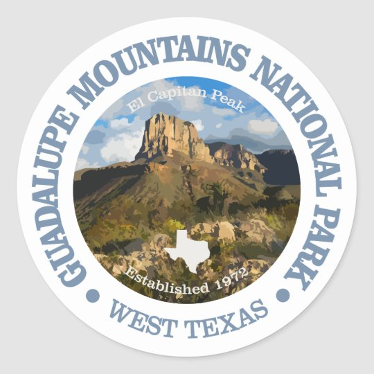 Guadalupe Mountains NP Classic Round Sticker