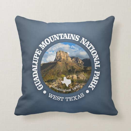 Guadalupe Mountains NP Throw Pillow