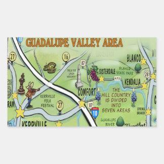 Guadalupe Valley Rectangular Sticker