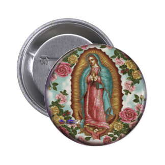 GUADALUPE VIRGEN CUSTOMIZABLE PRODUCTS 6 CM ROUND BADGE