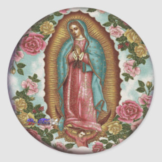 GUADALUPE VIRGEN CUSTOMIZABLE PRODUCTS ROUND STICKER