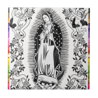 GUADALUPE VIRGIN MEXICO 10  CUSTOMIZABLE PRODUCTS SMALL SQUARE TILE