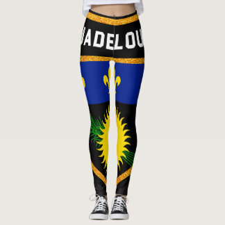 Guadeloupe Flag Leggings