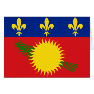 Guadeloupe Flag Note Card