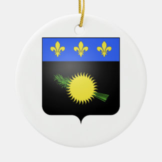 Guadeloupe (France) Coat of Arms Ceramic Ornament