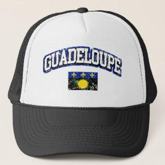 Guadeloupe  Vintage Flag Trucker Hat