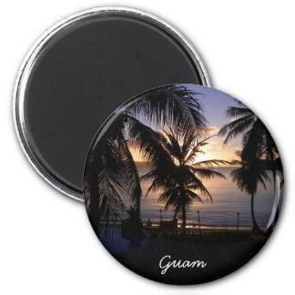 Guam 6 Cm Round Magnet