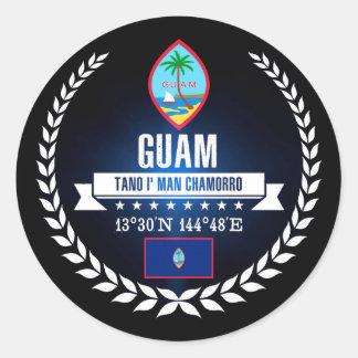 Guam Classic Round Sticker