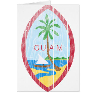 Guam Coat Of Arms Card