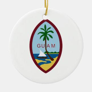 Guam Coat of Arms Ceramic Ornament