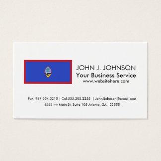 Guam Flag Business Card