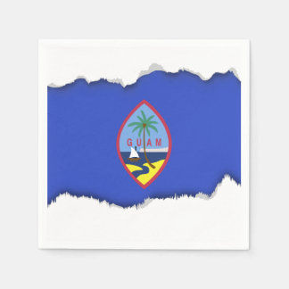 Guam Flag Disposable Napkin