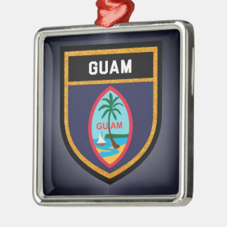 Guam Flag Metal Ornament