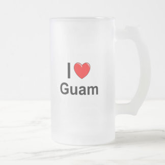 Guam Frosted Glass Beer Mug