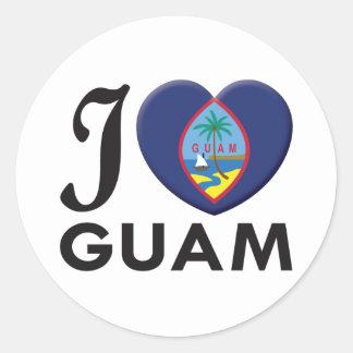 Guam Love Classic Round Sticker