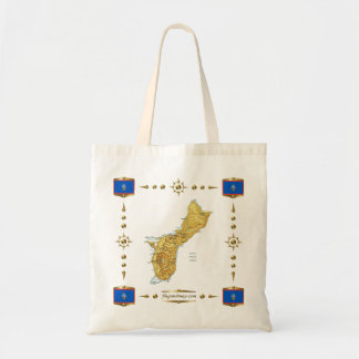 Guam Map + Flags Bag