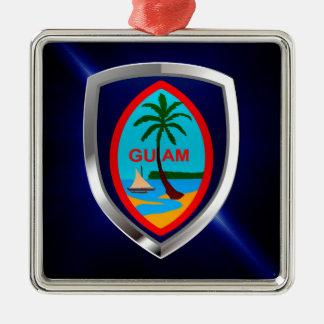 Guam Mettalic Emblem Metal Ornament