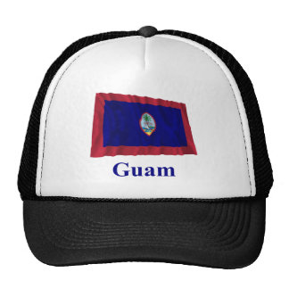 Guam Waving Flag with Name Cap