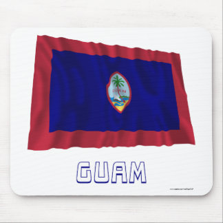 Guam Waving Flag with Name Mouse Pad