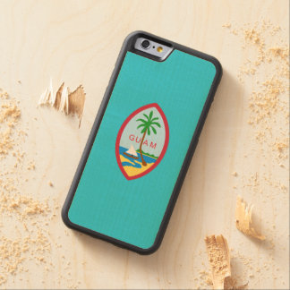 Guamanian  coat of arms carved maple iPhone 6 bumper case