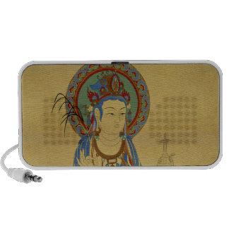 Guan Yin Buddha Doodle Speaker Bamboo Backgr