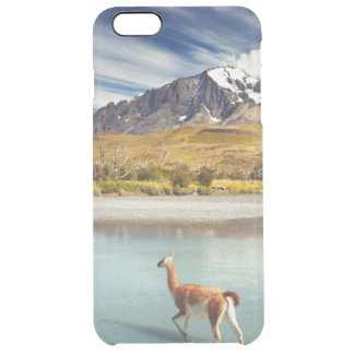 Guanaco crossing the river in Torres del Paine Clear iPhone 6 Plus Case