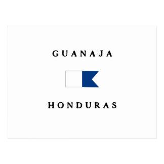 Guanaja Honduras Alpha Dive Flag Postcards