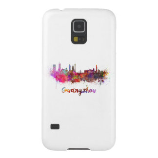 Guangzhou skyline in watercolor cases for galaxy s5