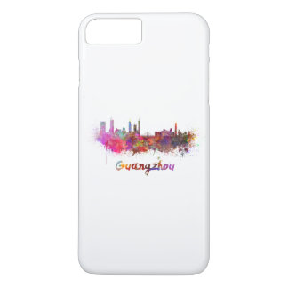Guangzhou skyline in watercolor iPhone 7 plus case