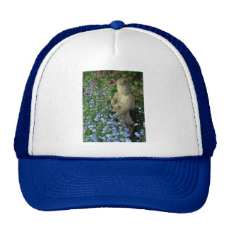 Guanyin and Forget-Me-Nots, photograph Mesh Hat
