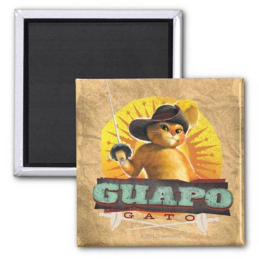 Guapo Gato Refrigerator Magnet