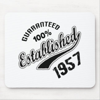 Guaranteed 100% Established 1957 Mouse Pad