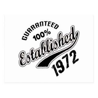 Guaranteed 100% Established 1972 Postcard