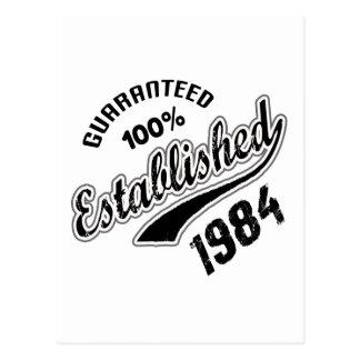 Guaranteed 100% Established 1984 Postcard