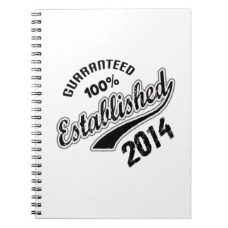 Guaranteed 100% Established 2014 Spiral Notebook