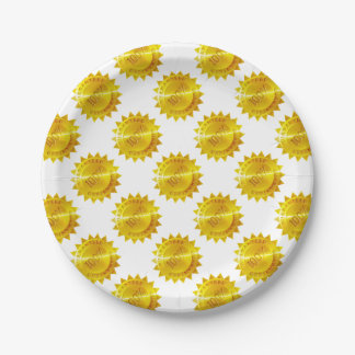 Guaranteed 100 percent Gold Medal Icon Paper Plate