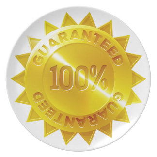 Guaranteed 100 percent Gold Medal Icon Plate