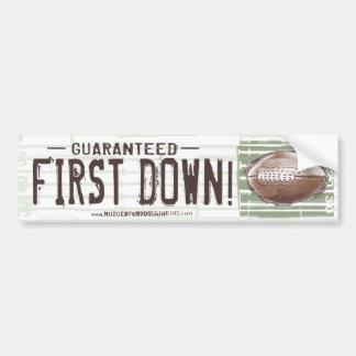 Guaranteed First Down! Bumpersticker Bumper Sticker