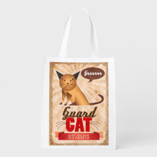 Guard Cat Grocery Bags
