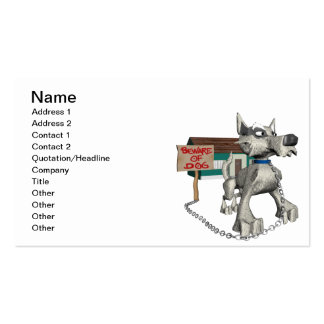 Guard Dog Business Card Template
