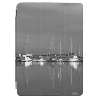 Guard of ipad photo black and white, boats iPad air cover