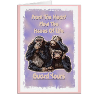 Guard The Heart Note Card