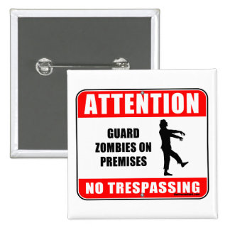 Guard Zombies 15 Cm Square Badge